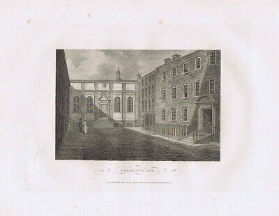 LONDON Clement's Inn - Antique Print 1804