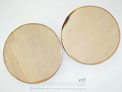 2 Close grained English Ash wood turning bowl blanks.  255 x 65mm.  3167