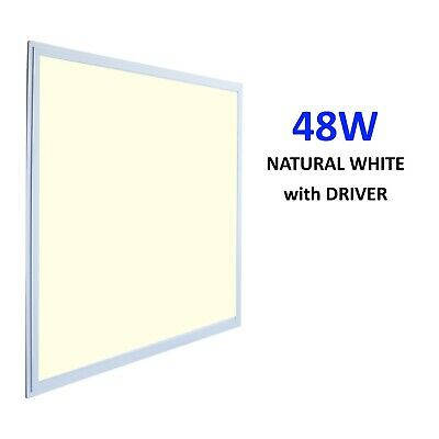 48W LED Panel Light Recessed Ceiling (Natural White 4000K) 595x595x10mm