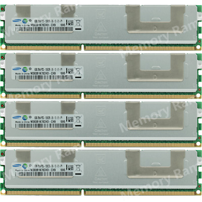 Samsung 32GB 4X8GB PC3-10600R DDR3-1333MHZ 2RX4 1.5V 240pin Server Memory Ram