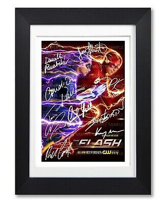 The Flash Cast Signed Poster Print Tv Show Series Season Photo Autograph Gift