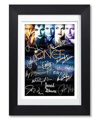 Once Upon A Time Cast Signed Poster Print Tv Show Season Photo Autograph Gift
