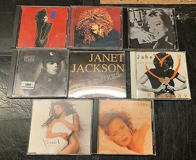 COLLECTION/LOT OF JANET JACKSON CDS & CD SINGLES with PROMO ONLY ALRIGHT REMIXES