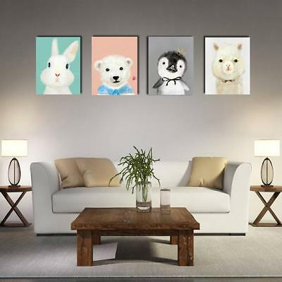 Cartoon Animals Canvas Print Painting Home Decor Unframed Wall Art Gift DB