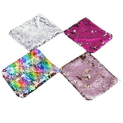 Mermaid Sequin Pencil Case Cosmetic Makeup Bag Coin Pouch Storage Zipper DB