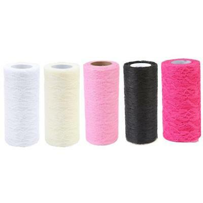 Tulle Lace Organza Fabric Roll Wedding Sash DIY Party Table Runner Chair DB