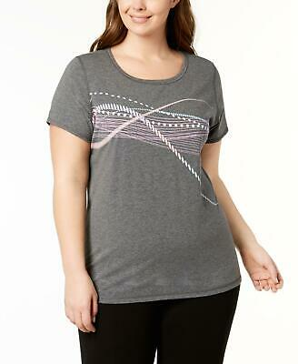 Ideology 1428 Plus Size 1X Womens NEW Gray Printed Pullover Top Pullover $64