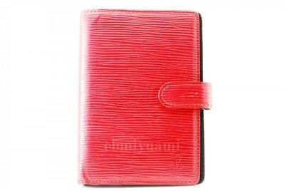 Authentic Louis Vuitton Epi Agenda PM Planner Cover Red  TA5776-%
