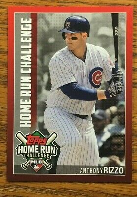 2019 Topps Series 1 Baseball Home Run Challenge Anthony Rizzo HRC-20 Cubs