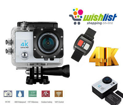 Action Camera Pro Cam 4K Videocamera Sport Wifi Ultra Hd 16Mp Water Resistant