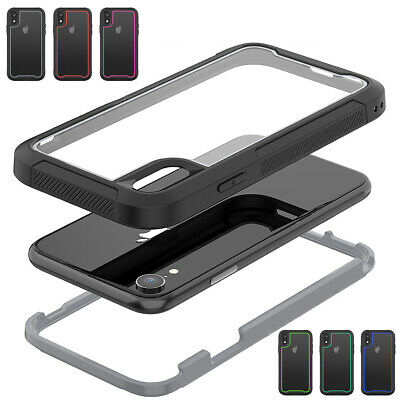 For iPhone XS Max XR X 6 6s 7 8 Plus Heavy Duty Shockproof Hybrid Tough Case