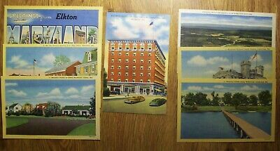 Seven Different Vintage Mint Postcards, From Maryland