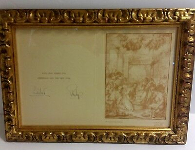 Rare Signed(Queen Elizabeth) Lilibet & Philip Christmas Card to Duke of Windsor