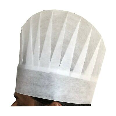 e3805df2a 10PC WHITE DISPOSABLE Paper Chef Hats Restaurant Cooking Kitchen ...