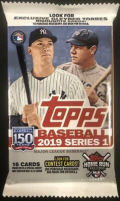 REDEMPTION! HOME RUN CHALLENGE CARD! Hot Pack 2019 Topps SERIES 1 Baseball