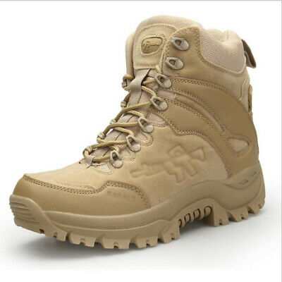 22ac8177094 MEN'S ARMY TACTICAL Desert Leather Combat Boots Military Shoes ...