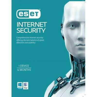 ESET NOD32 Internet Security 1 Year 1 Device PC License key 2019 Edition