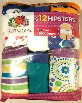 17247d418805 NWT Fruit of the Loom Girl's Cotton BRIEFS 12 PK Varied Colors Tag Free  SIZE 12