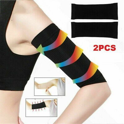 2x Women Slimming Weight Loss Arm Shaper Fat Cellulite Burn Breathable Wrap Belt