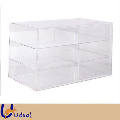 3 Tier Large Bakery Display Cabinet Donut Pastry Cupcake Clear 5mm Acrylic AU