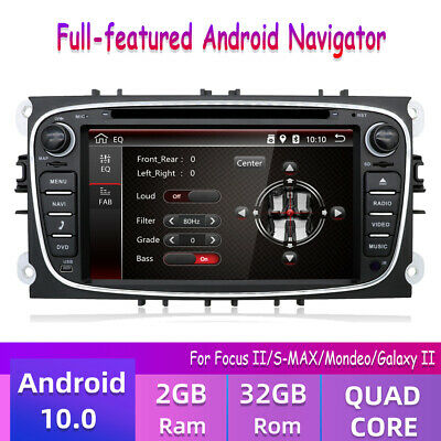 ANDROID 8 0 HEADUNIT DVD Radio WIFI Stereo BT Sat Nav Ford Focus Mondeo  Galaxy