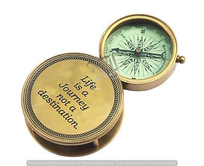Vintage Nautical Antique Solid Brass Working Flip Out Compass Marine Gift Item