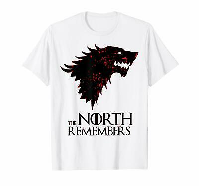 e9d43162 The North Remembers Red Wedding Dire Wolf Stark Game Of Thrones White  T-Shirt