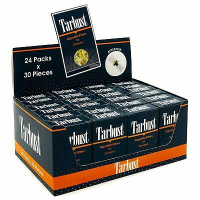TarBust Disposable Cigarette Filters, 24 Packs Display Box (24x30 Filters)