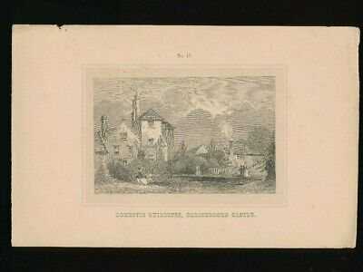 Orig. Ton-Lithographie Isle of Wight, Domestic Building, Carisbrooke Castle 1859