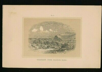 Orig. Ton-Lithographie Isle of Wight, Shanklin from brading Mall 1859 (ST1)