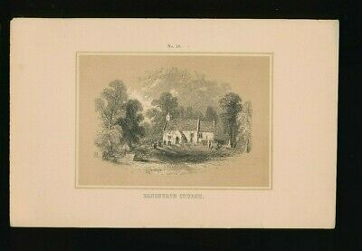 Orig. Ton-Lithographie Isle of Wight, Bonchurch Church, 1859  (ST1)