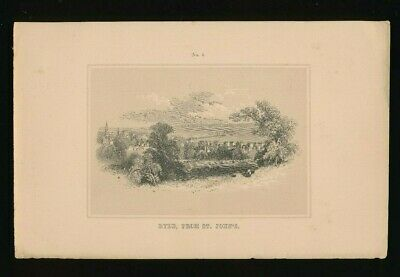 Orig. Ton-Lithographie Isle of Wight, Ryde from St.Johns, 1859,  (ST1)