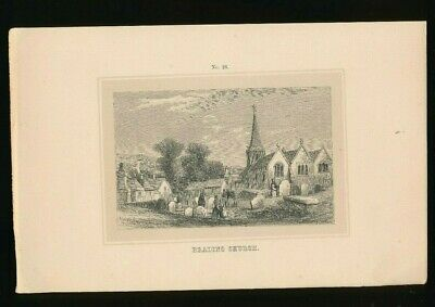 Orig. Ton-Lithographie Isle of Wight, Brading Church, 1859,  (ST1)