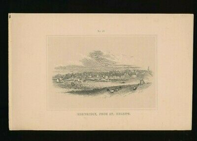 Orig. Ton-Lithographie Isle of Wight, Bembridge from St. Helens, 1859,  (ST1)