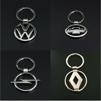 Fashion Men's 3D Metal Double Side Car Logo Hollow out Keyring Key Chains Holder