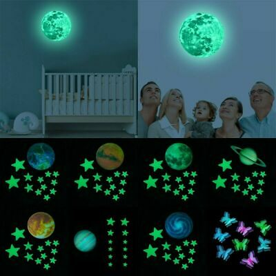 Glow In The Dark Luminous Stars And Moon Planet Space Wall Stickers Decal