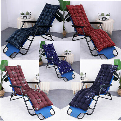 Replacement Cushion Pad For Garden Sun Lounger Recliner Chair Cotton Seat Pad