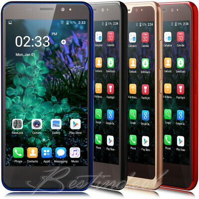 "2019 Touch Android 8.1 Mobile Phones Quad Core Dual SIM 5.0"" Smartphone Unlocked"