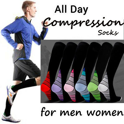 Medical Compression Varicose Vein Stockings Travel Leg Pain Relief Football Sock