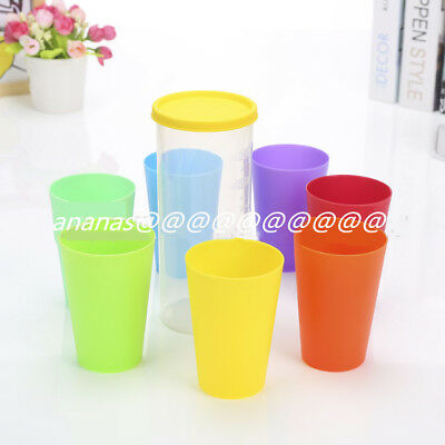 727bff70193 8Pcs Plastic Drinking Cups Mugs Tumblers Child Party BBQ Outdoor Picnic UK  STOCK
