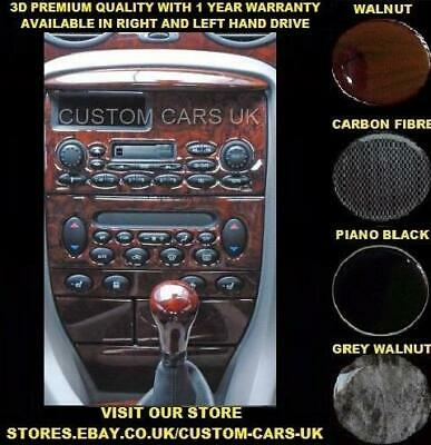 ROVER 75 - MG ZT17 1998-2005 - 7 Piece Dash Kit - Walnut - Carbon - Piano Black