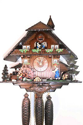xl cuckoo clock musical play 2 melodies black forest wall clock bell tower