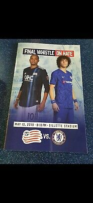 OFFICIAL PROGRAMME NEW ENGLAND REVOLUTION v CHELSEA IN BOSTON USA MINT 15/5/2019