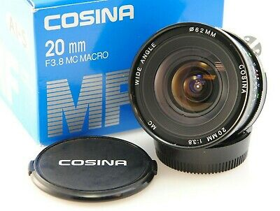 COSINA 20mm f3.8 MC Macro. Nikon F-Mount, Ai-S. *Boxed* D750, D800, F3, FM2 etc.
