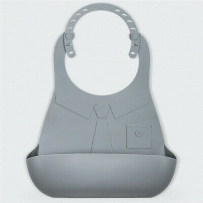 thumbsUp 100% Silicone Made Man Bib Snack in Peace Re-useable Adult Food Catcher