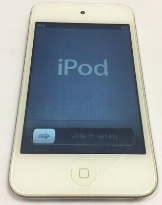 Apple iPod Touch 4th Generation White (8 GB) Cracked Screen.