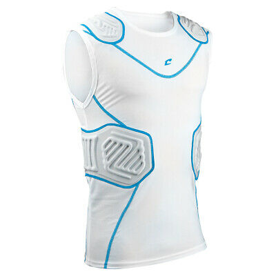 Champro Bull Rush Adult Football Compression Shirt - White (NEW) Lists @ $30
