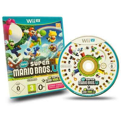 Nintendo Wii U Spiel New Super Mario Bros U und New Super Luigi U in Ovp