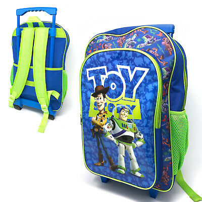Toy Story 4 Large Kids Luggage Trolley Backpack Rucksack Bag Suitcase On Wheels