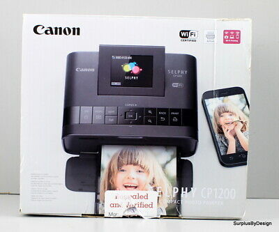*NEW OPEN BOX*Canon SELPHY CP1200 Wireless Compact Photo Inkjet Printer Black